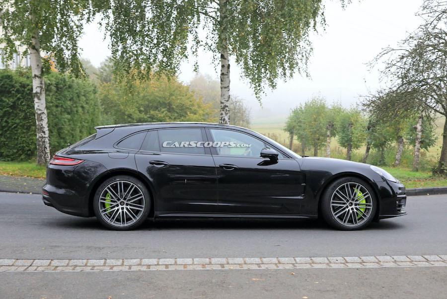 小改款Porsche Panamera Sport Turismo路試捕獲 有著熟悉神韻?