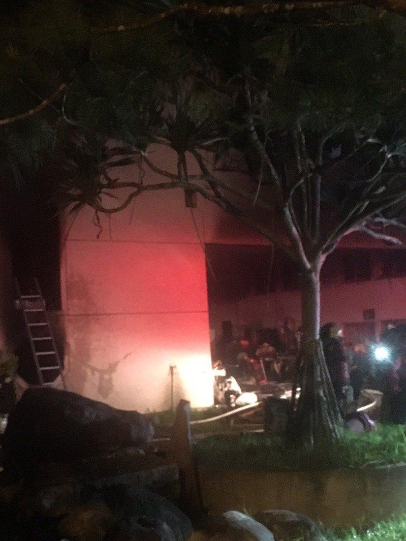 台南市玉井道場大火,不幸造成7人死亡,3人受傷。記者黃宣翰/翻攝