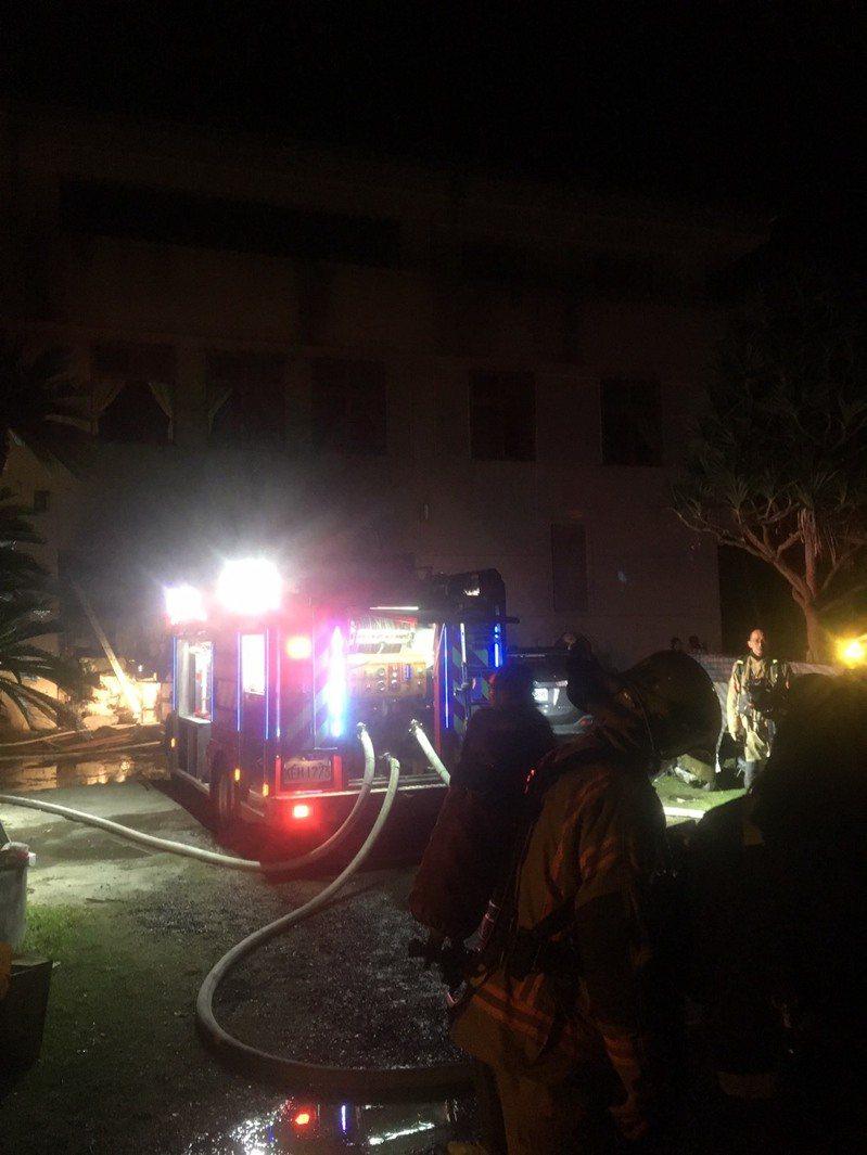 台南玉井區三埔里一處道友共修場所今天凌晨發生火警,致10死傷的慘劇。記者吳淑玲/翻攝