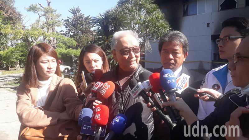 台南玉井佛堂縱火案,張姓堂主表示嫌犯父親是知名醫師仍不堪兒子需索。記者周宗禎/攝影