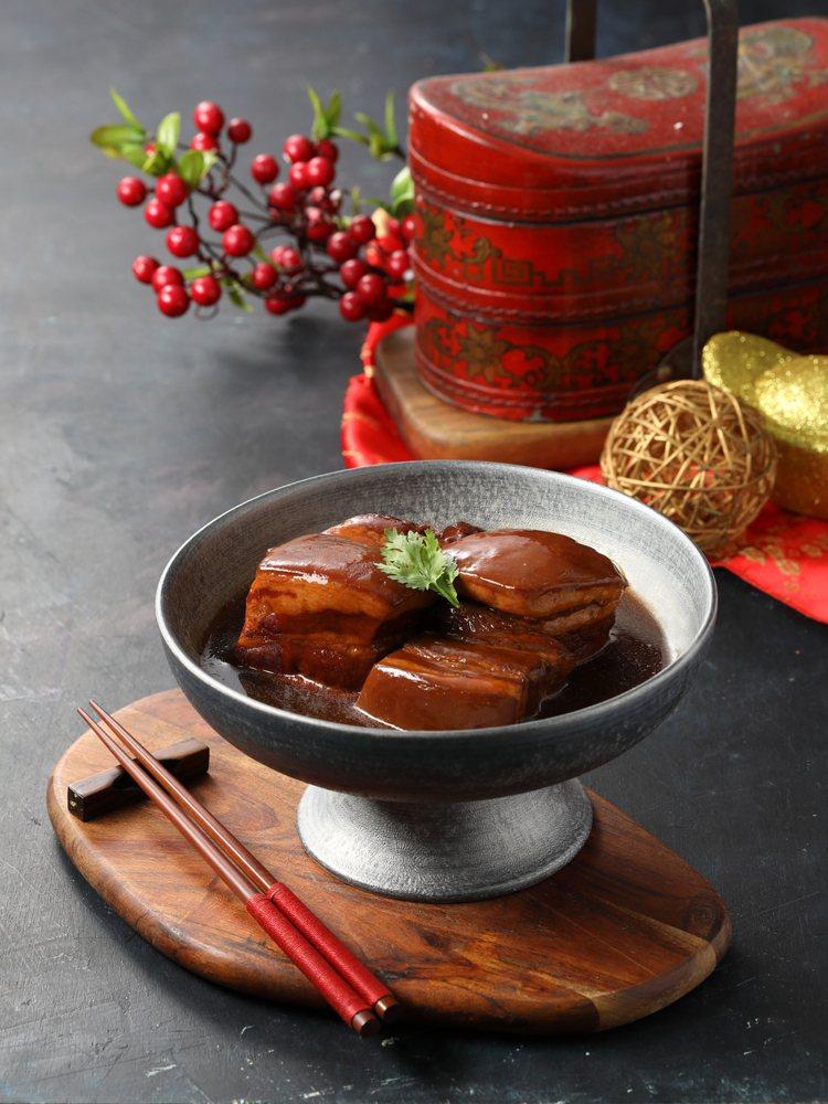亞都天香樓的名菜「東坡肉」。圖/亞緻餐飲麗緻坊提供