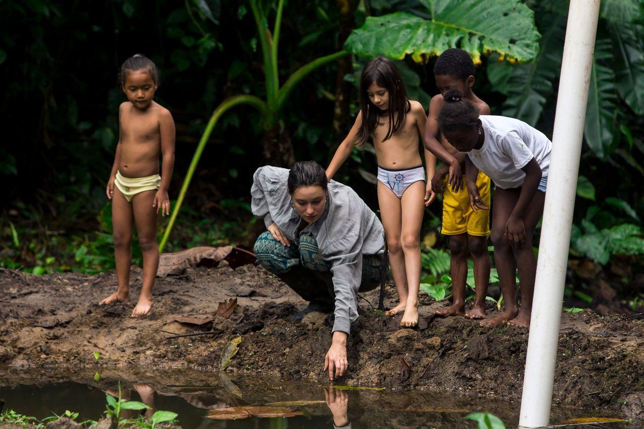 歐洲研究指出,參與森林學校的孩童有較強的心理韌性及社交技巧。法新社