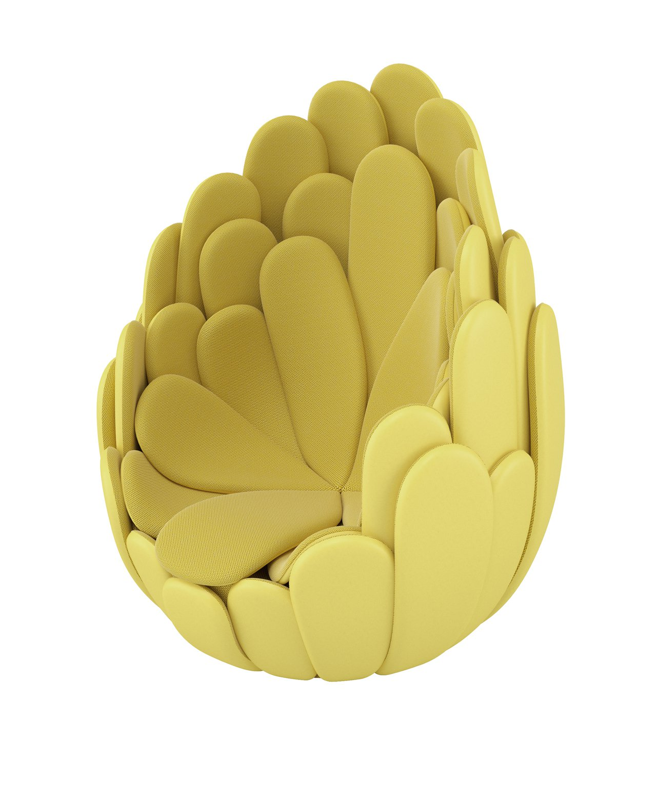 Campana Brothers設計的BULBO椅宛如綻放的熱帶花卉,每層花瓣的...