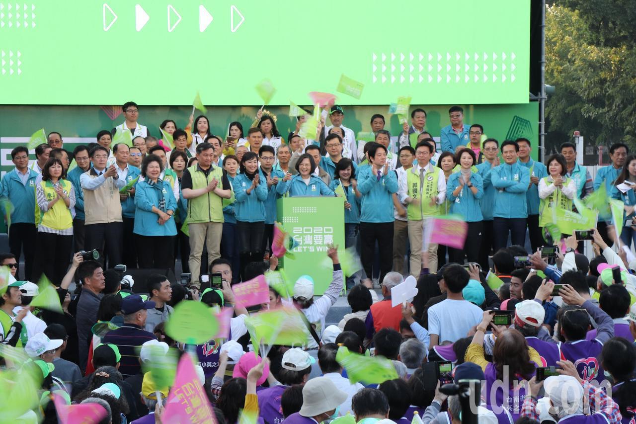 蔡英文台南市競選總部今天下午舉行成立大會。記者鄭維真/攝影