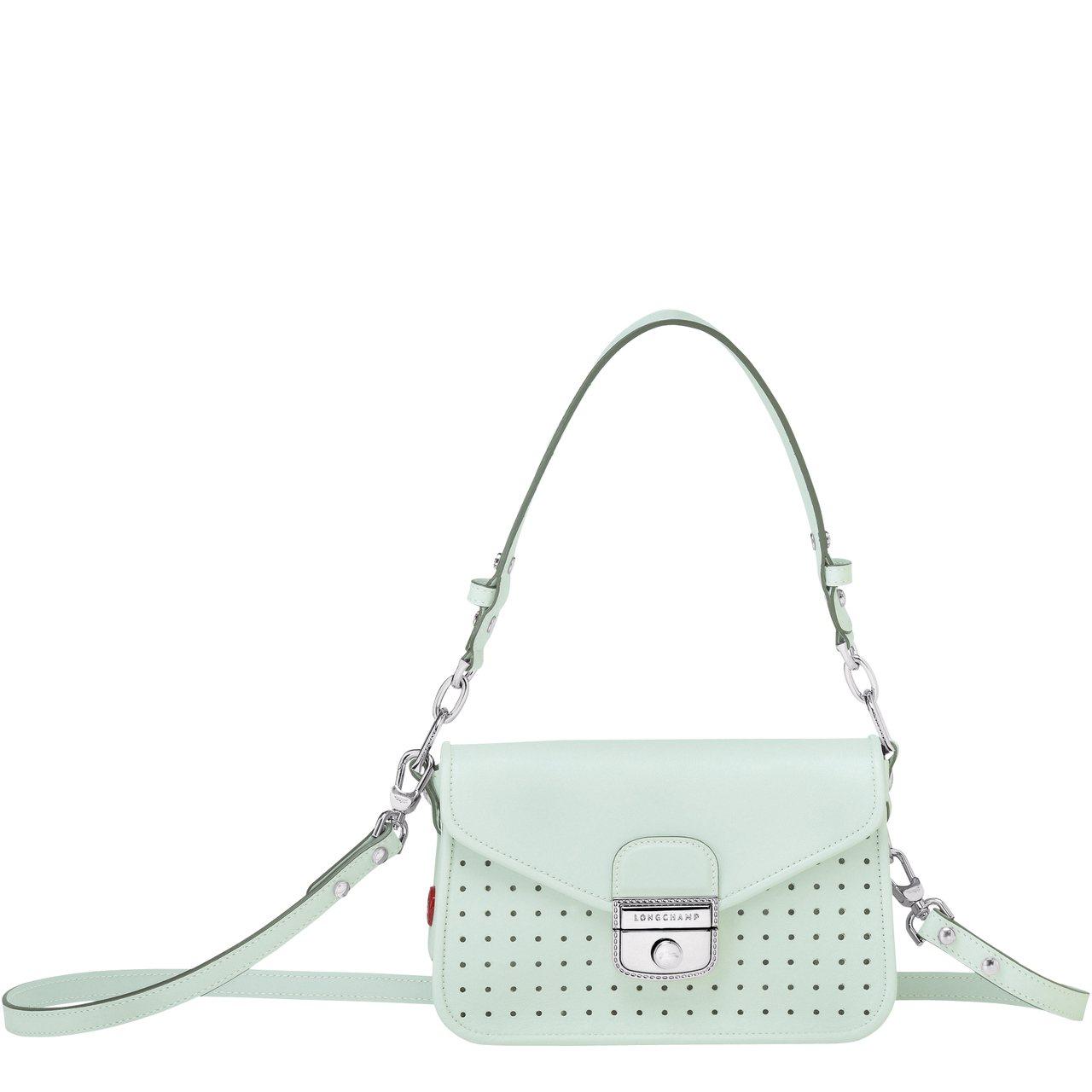 Mademoiselle LONGCHAMP青瓷色斜背包,售價35,300元。圖...