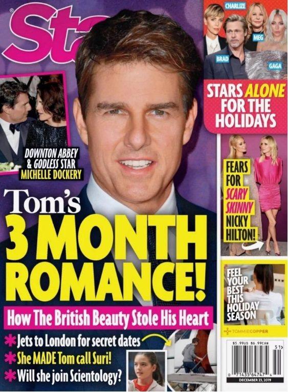 湯姆克魯斯被傳對英國女星產生仰慕之意,打算追求。圖/摘自Star