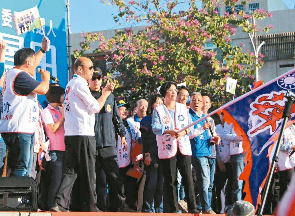 彰化縣長王惠美昨天以韓國瑜彰化競總主委身分揮旗。 記者林敬家/攝影