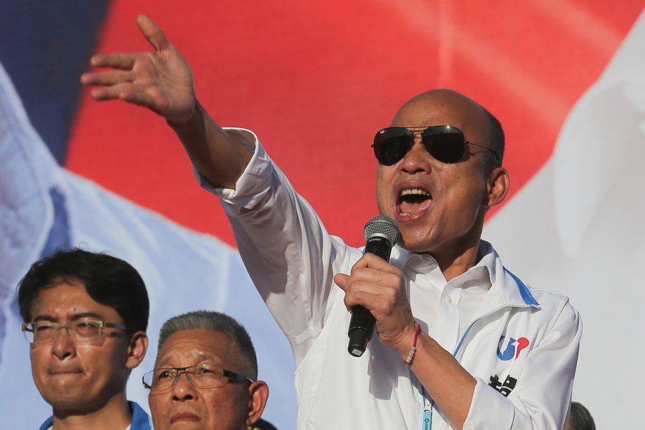 國民黨總統候選人韓國瑜。聯合報系資料照片/記者黃仲裕攝影