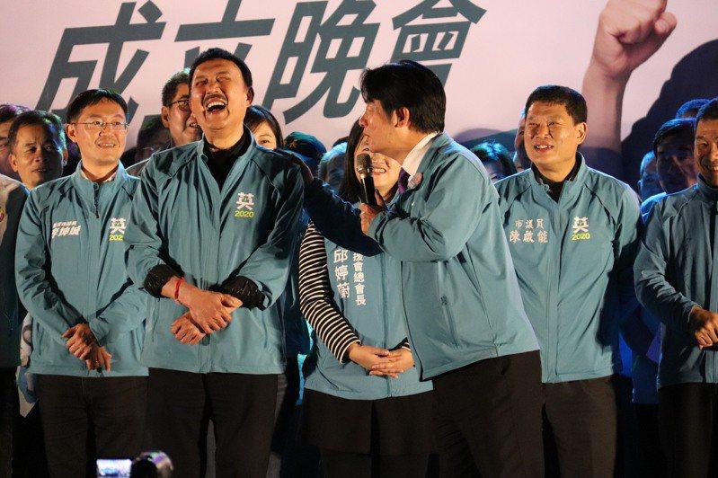 副總統賴清德出席余天三重後援總會成立造勢晚會。聯合報系記者胡瑞玲/攝影