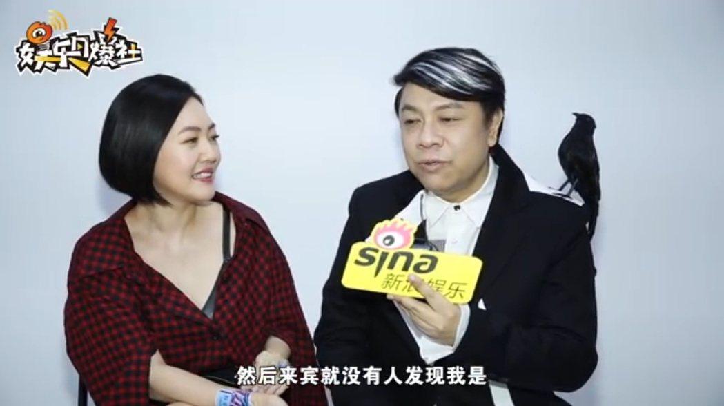 蔡康永與小S透露參加林志玲婚禮的趣事。 圖/擷自微博
