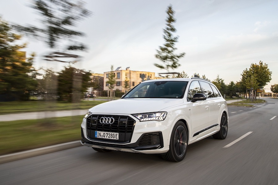 小改款Audi Q7車系 plug-in hybrid油電動力上身