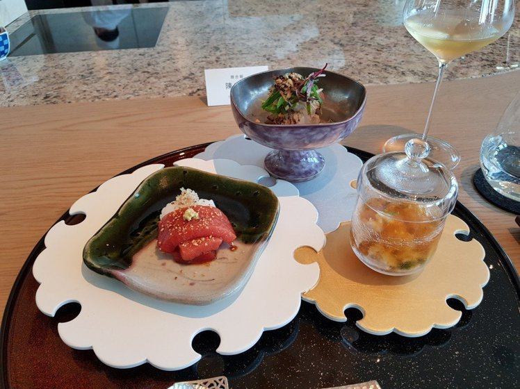 除了鐵板燒,UKAI Taipei也吃得到割烹料理。記者陳睿中/攝影