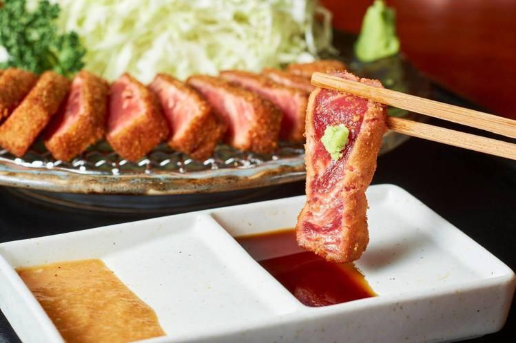 炸牛排元村提供多種份量的炸牛排定食。圖/取自Mitsui Outlet Park...