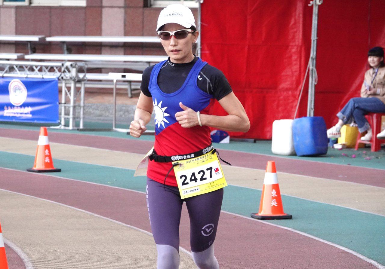 台灣好手劉千聿跑出女子組第三、國內女子第一成績。記者毛琬婷/攝影