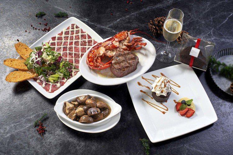 茹絲葵牛排館即日起推出節慶套餐,最低2,890元起。圖/茹絲葵提供