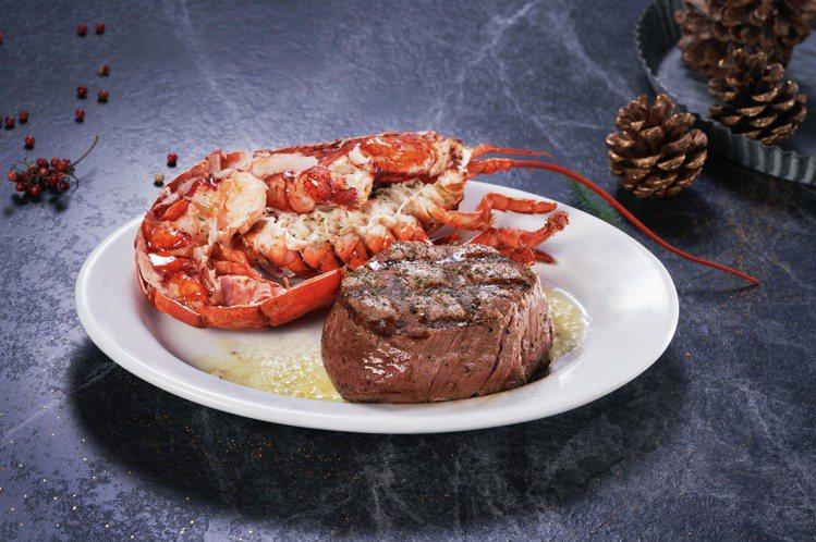可一次吃到龍蝦及牛排。圖/茹絲葵提供