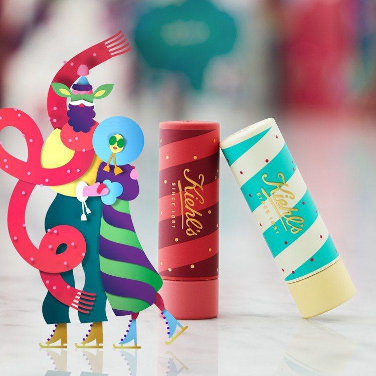 Kiehl's檸檬奶油護唇膏耶誕限定包裝/700元。圖/Kiehl's提供