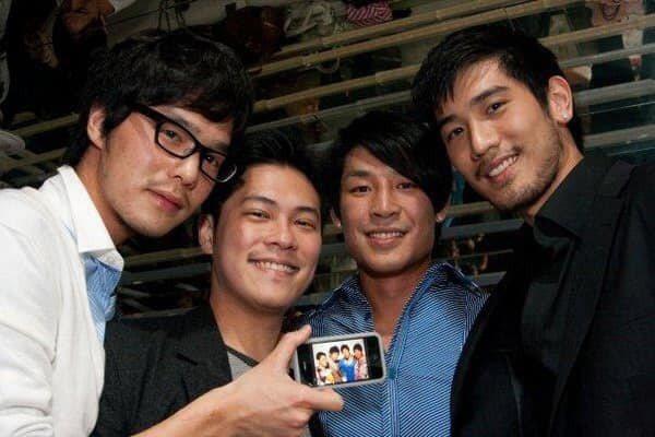 高以翔(右起)離世,時尚F4藍鈞天、陳紹誠、丁春誠永遠三缺一了。圖/摘自臉書
