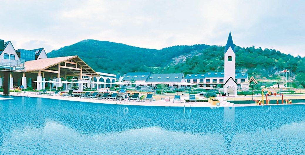 萬匯集團旗下半山伴水休閒渡假村全景圖。 萬匯集團/提供