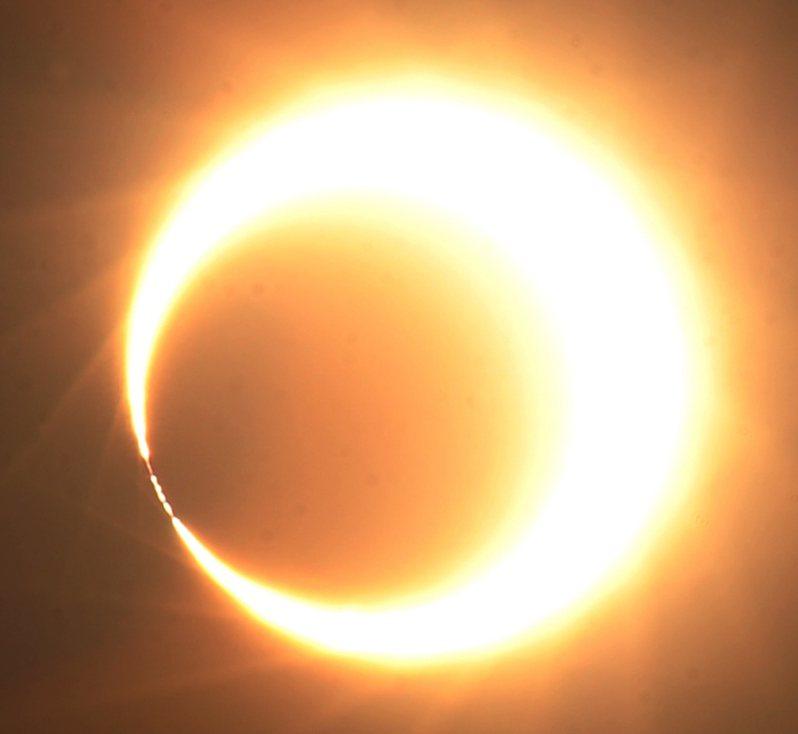 圖為2012年5月20日台灣地區發生日環食天文奇景。 聯合報系資料照片/記者陳易辰攝影