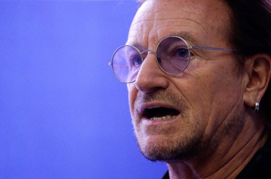 U2主唱波諾(Bono)。 美聯社