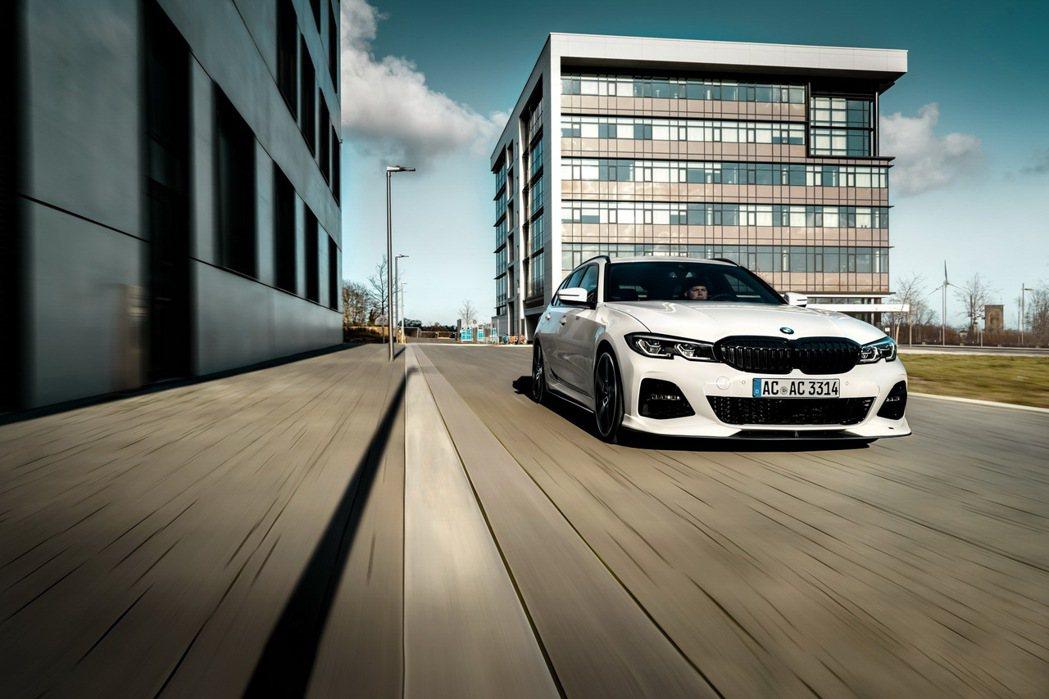 經過AC Schnitzer的操刀改裝後,BMW 3系列Touring變得更有氣...