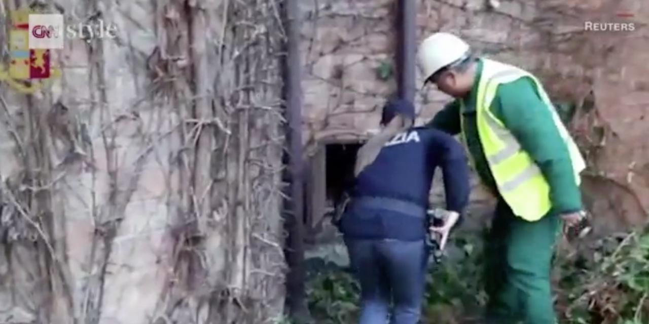 美術館園丁在清理外牆常春藤時,意外發現了一個金屬門板,打開後裡面是從未察覺過的洞...
