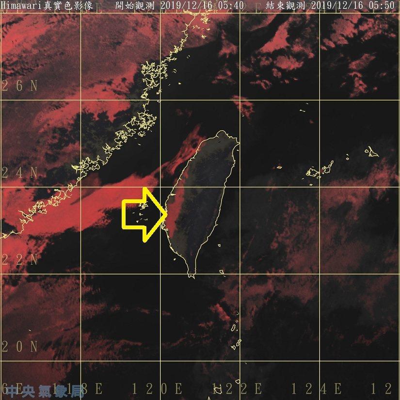 紅色是液態水的訊號,當它的分布和地形明顯相關時,最有可能是霧。圖/取自鄭明典臉書