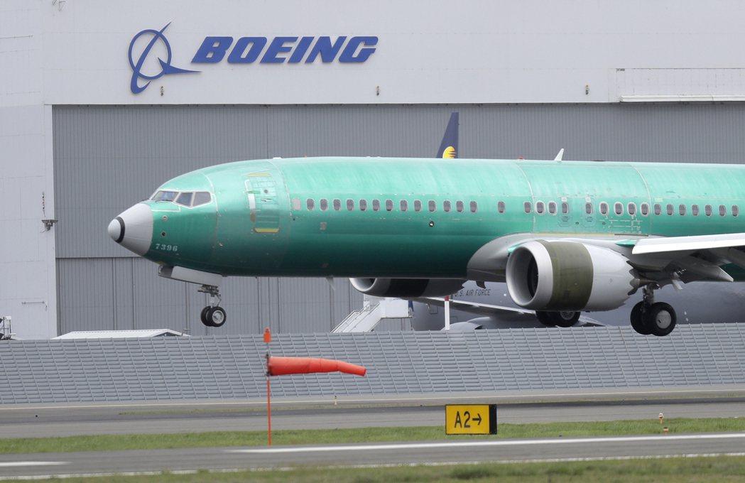 波音 737 MAX 8飛機。  美聯社