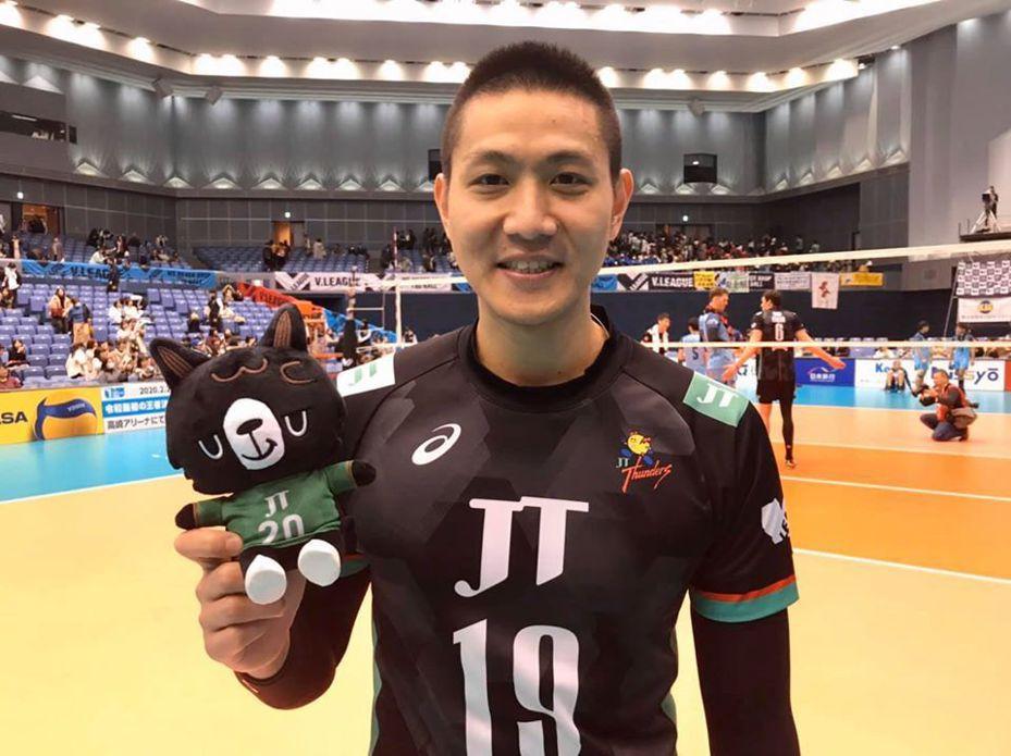 陳建禎首度獲得日本排球聯賽單場最佳球員。圖/取自陳建禎粉絲團
