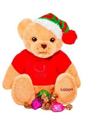 「聖誕小熊連G Cube松露巧克力禮盒 8顆裝」深受少女粉絲喜愛,售價1950元。圖/GODIVA提供