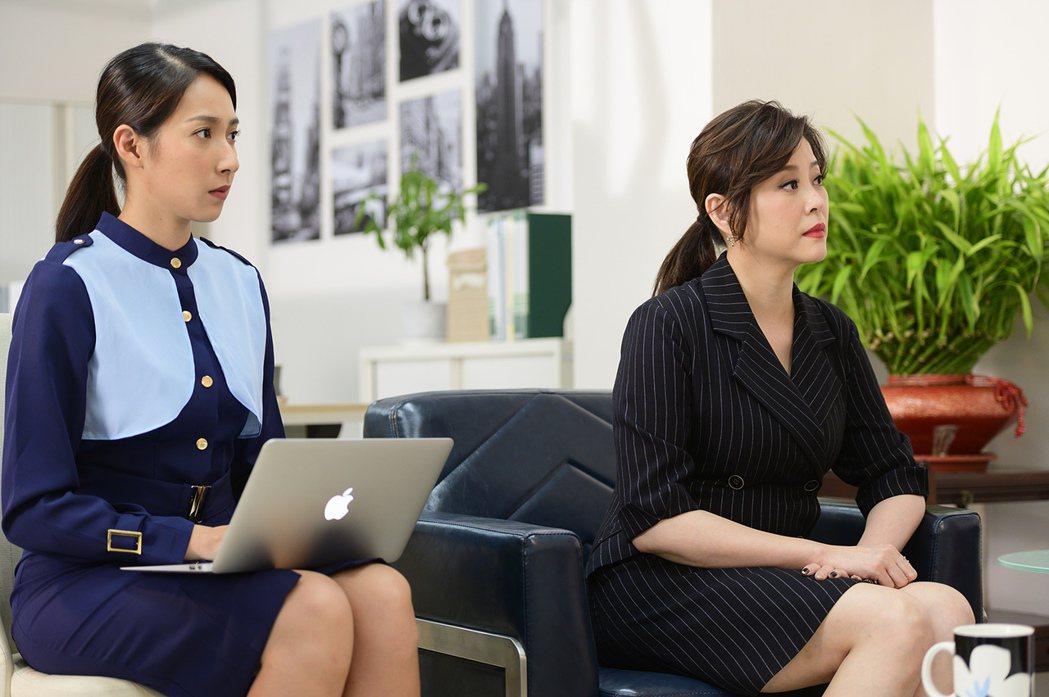 楊晴(左)、方馨將繼續演出「女力報到-小資女上班記」。圖/TVBS提供
