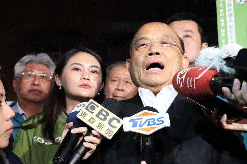 行政院長蘇貞昌今天表示,用人唯才,是否適才適所,是他用人唯一的考量。聯合報記者胡瑞玲/攝影