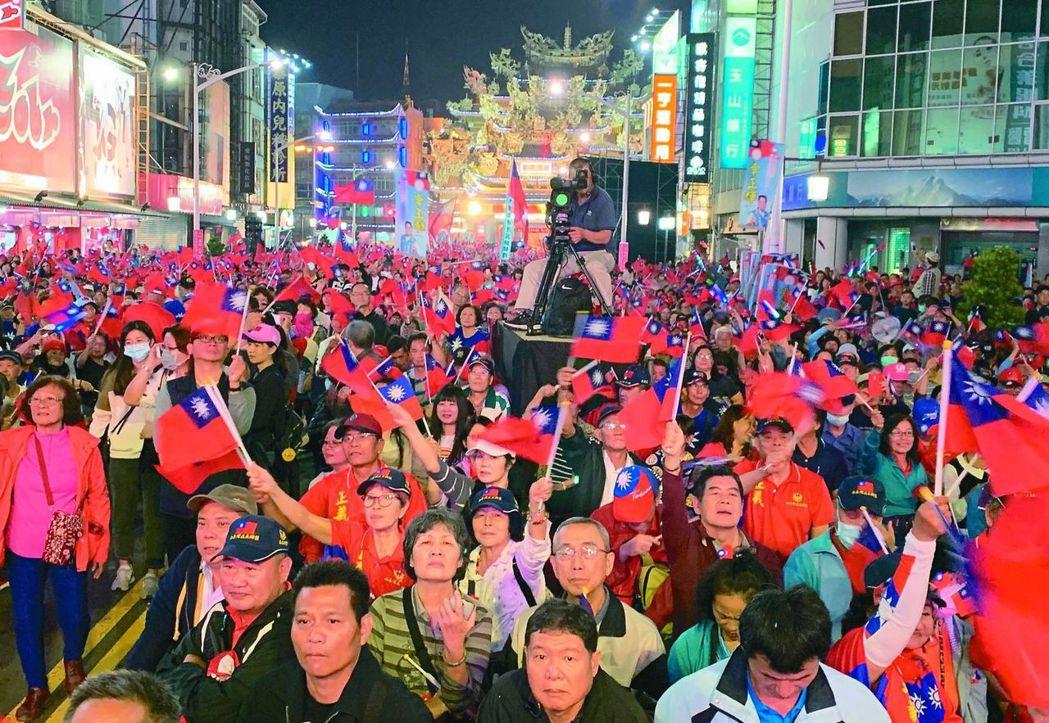 高雄市21日(周六)將迎來「挺韓」、「罷韓」兩場大遊行。圖/聯合報系資料照片