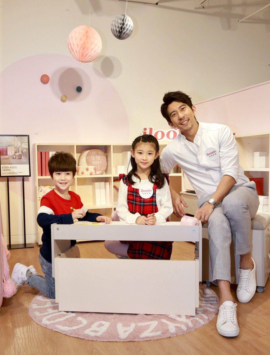 修杰楷出席兒童家具品牌記者會,為自己三個寶貝女兒,物色適合的成長型家具,因應女兒...