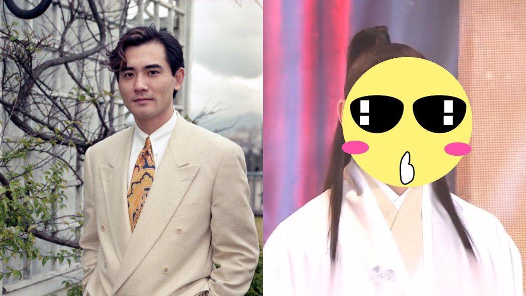 趙文瑄年輕時顏值高,如今身形、臉蛋都腫了一圈。 左圖/聯合報系資料照,右圖/擷自