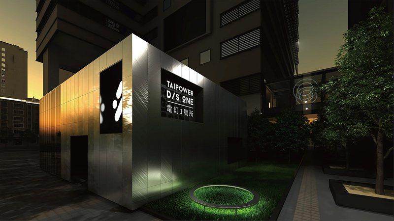 「城市光井」結合互動燈光於日夜呈現不同城市表情。 圖/台電 提供