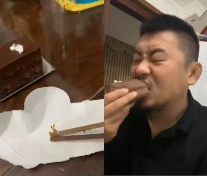 徐曉冬直播吃兒便便。圖/擷自臉書
