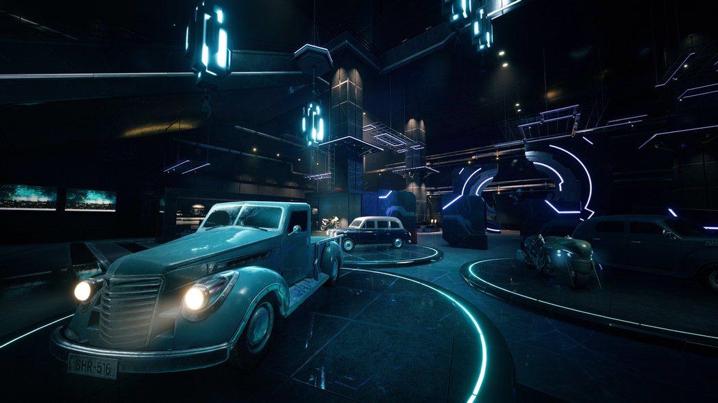 公司內展示的神羅製汽車