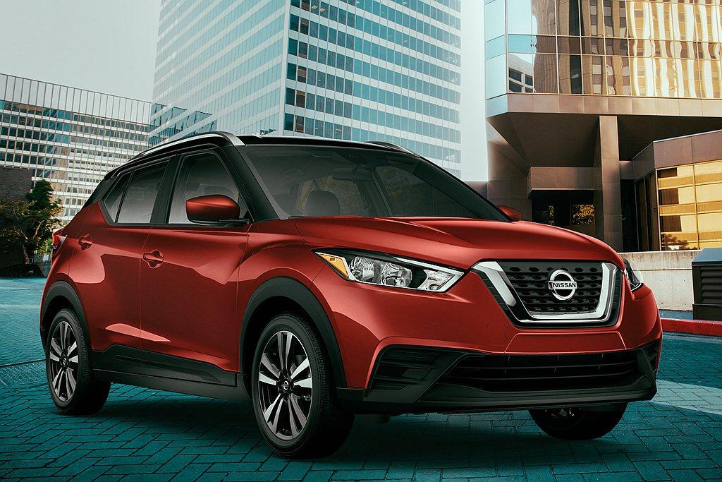 美國市場銷售表現也不錯的Nissan Kicks,日前推出新年式車型。 圖/Ni...