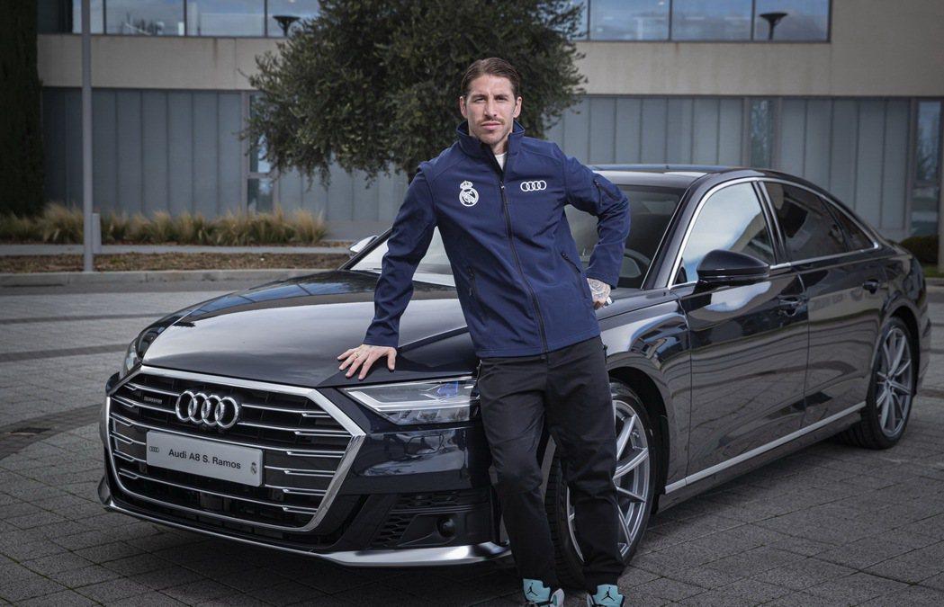 皇馬隊長後衛拉莫斯(Sergio Ramos)則是再次選擇價位最高的A8旗艦房車...