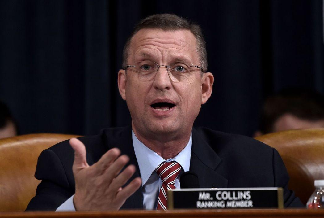 眾院司法委員會共和黨領袖、喬治亞州眾議員柯林斯在彈劾程序中為美國總統川普辯護。(...
