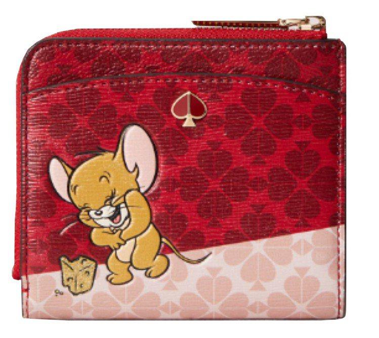 kate spade x Tom and Jerry錢包,售價4,900元。圖/...