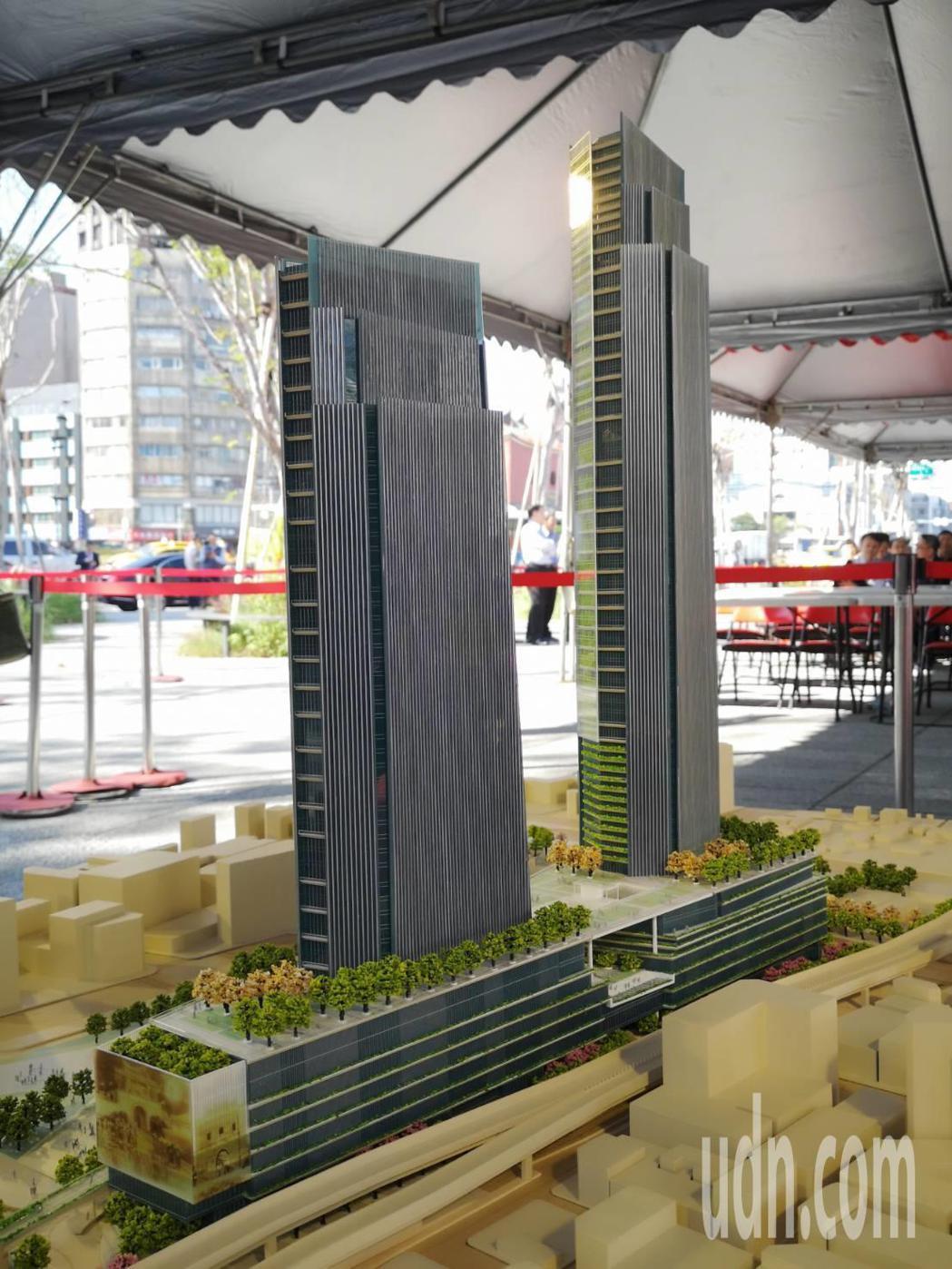 台北車站C1D1雙子星大樓聯合開發案今天舉行簽約儀式。記者邱德祥/攝影