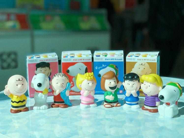 「史努比好朋友們軟膠」共8款造型,多種類品項提供消費者選擇。記者徐力剛/攝影