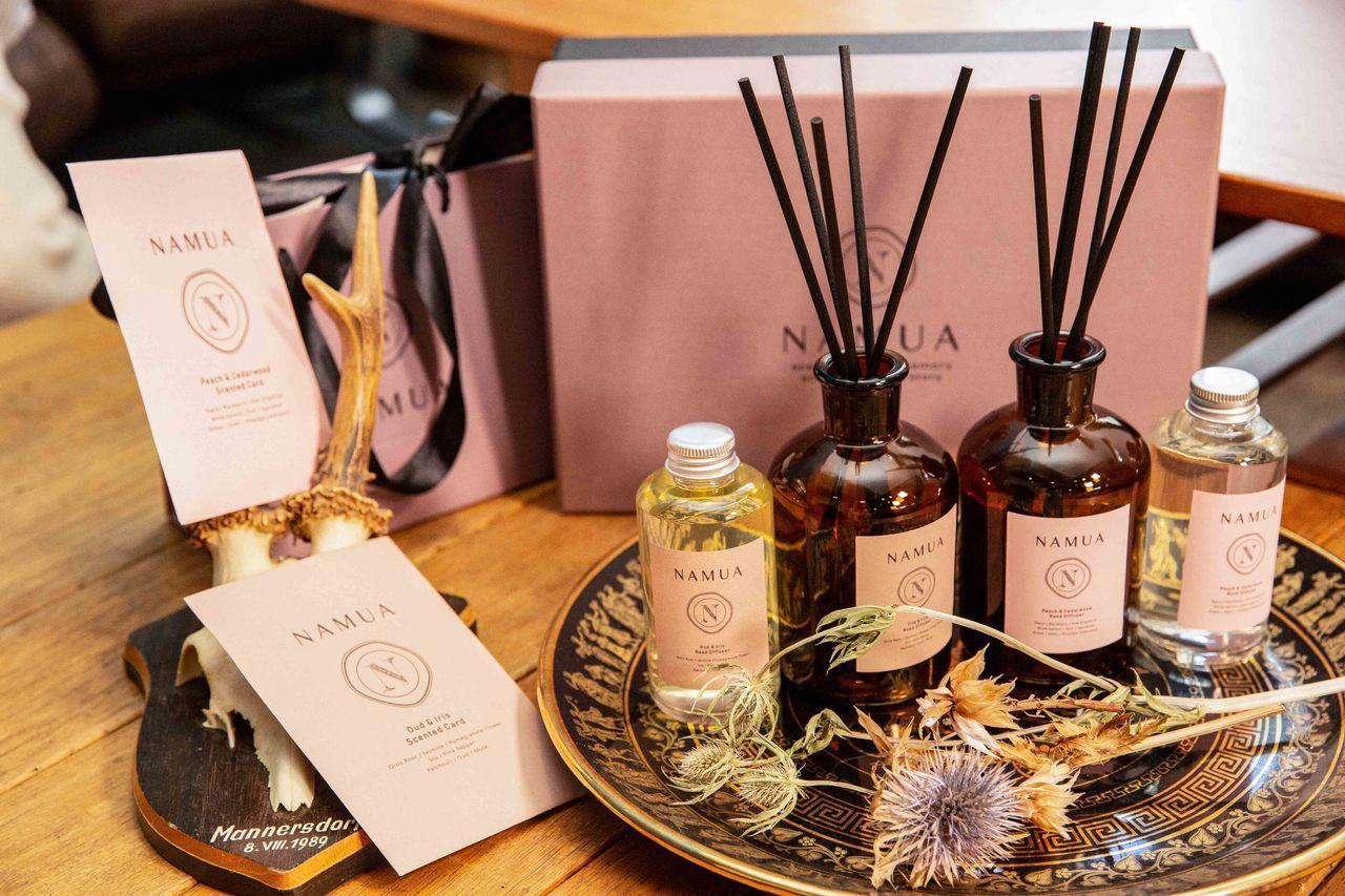 王心恬創立精油香氛品牌-NAMUA那木瓦 。圖/NAMUA提供
