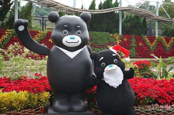 自來水博物館舉辦公館耶誕季,找來熊讚擔任水園區園長。圖/台北自來水事業處提供