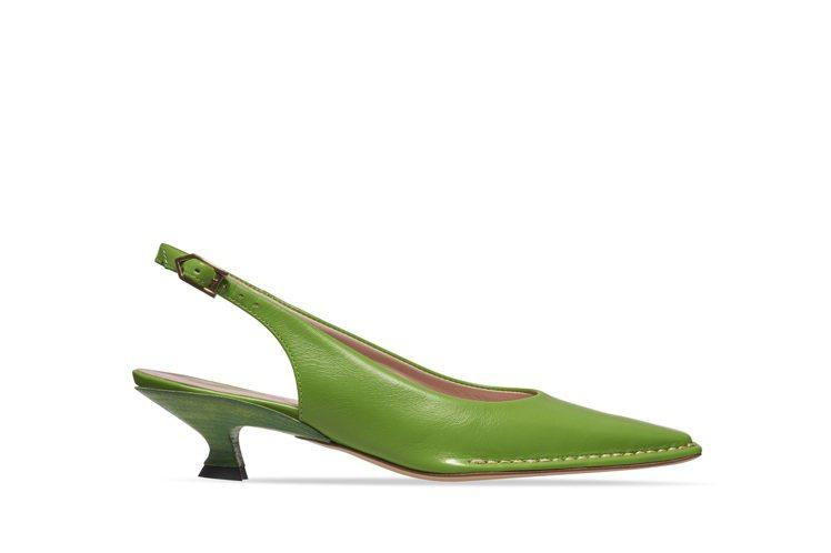TOD'S貓跟鞋綠色,27,500元。圖/迪生提供