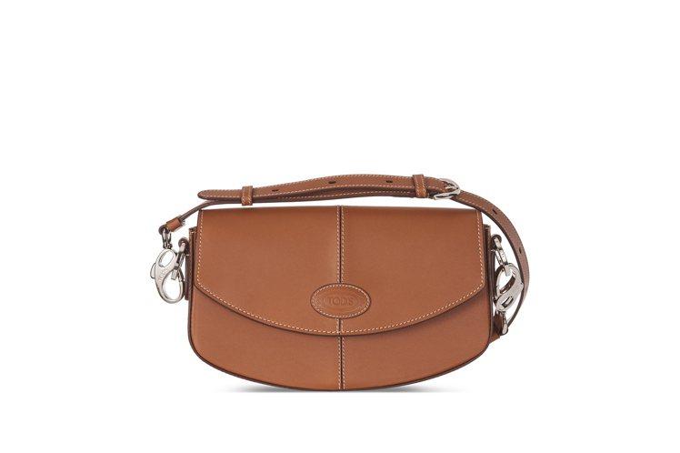 TOD'S D Bag半月包焦糖色,72,300元。圖/迪生提供