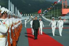 中國首艘自製航母「山東艦」三亞入列 雙航母時代來臨